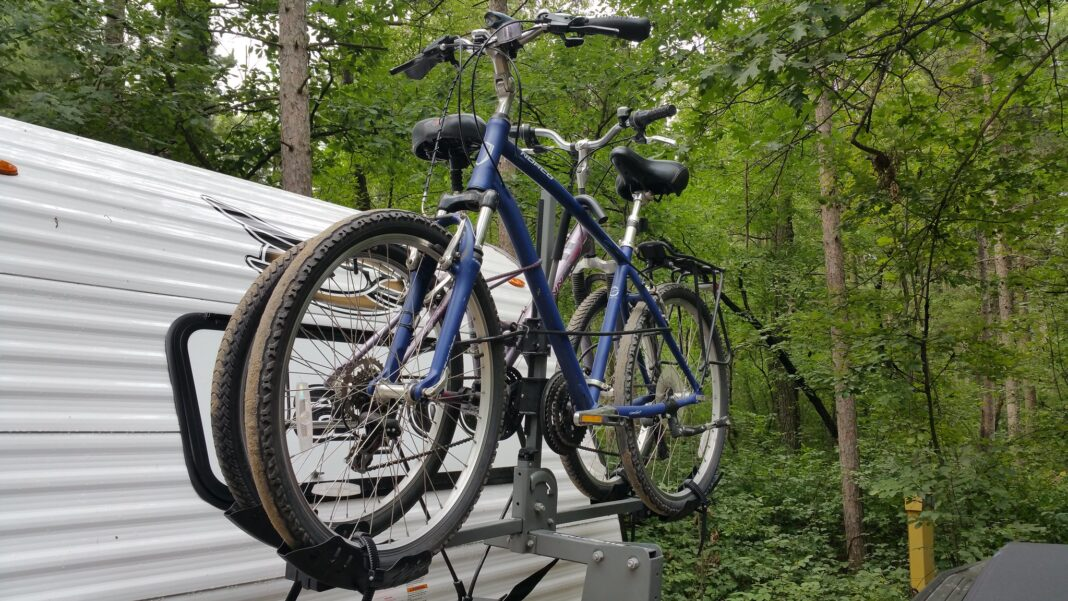 RV bike rack